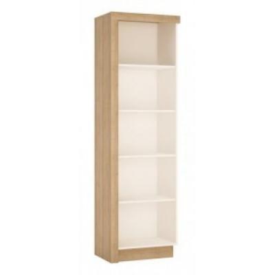 Nyitott polcos szekrény jobbos, fehér-tölgy - ARIZONA